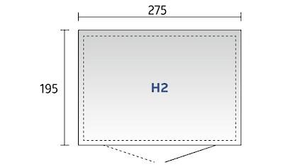Biohort Gerätehaus »Highline H2«, Stahl, BxTxH: 275x195x222 cm kaufen