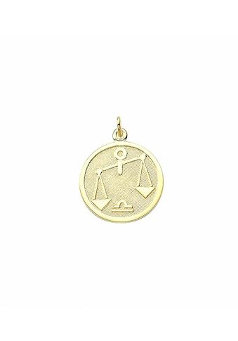 Adelia´s Anhänger Set »333 Gold Sternzeichen Anhänger Waage Ø 16 mm«, 333 Gold... kaufen
