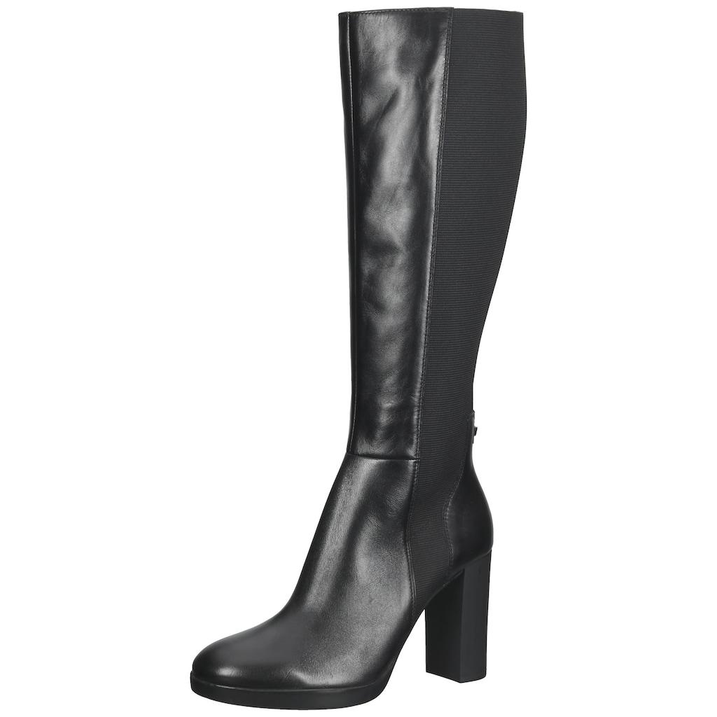 Geox High-Heel-Stiefel »Leder/Textil«