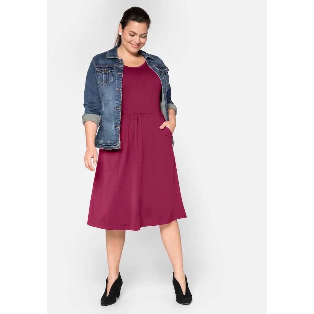Sheego Jerseykleid, mit Taschen