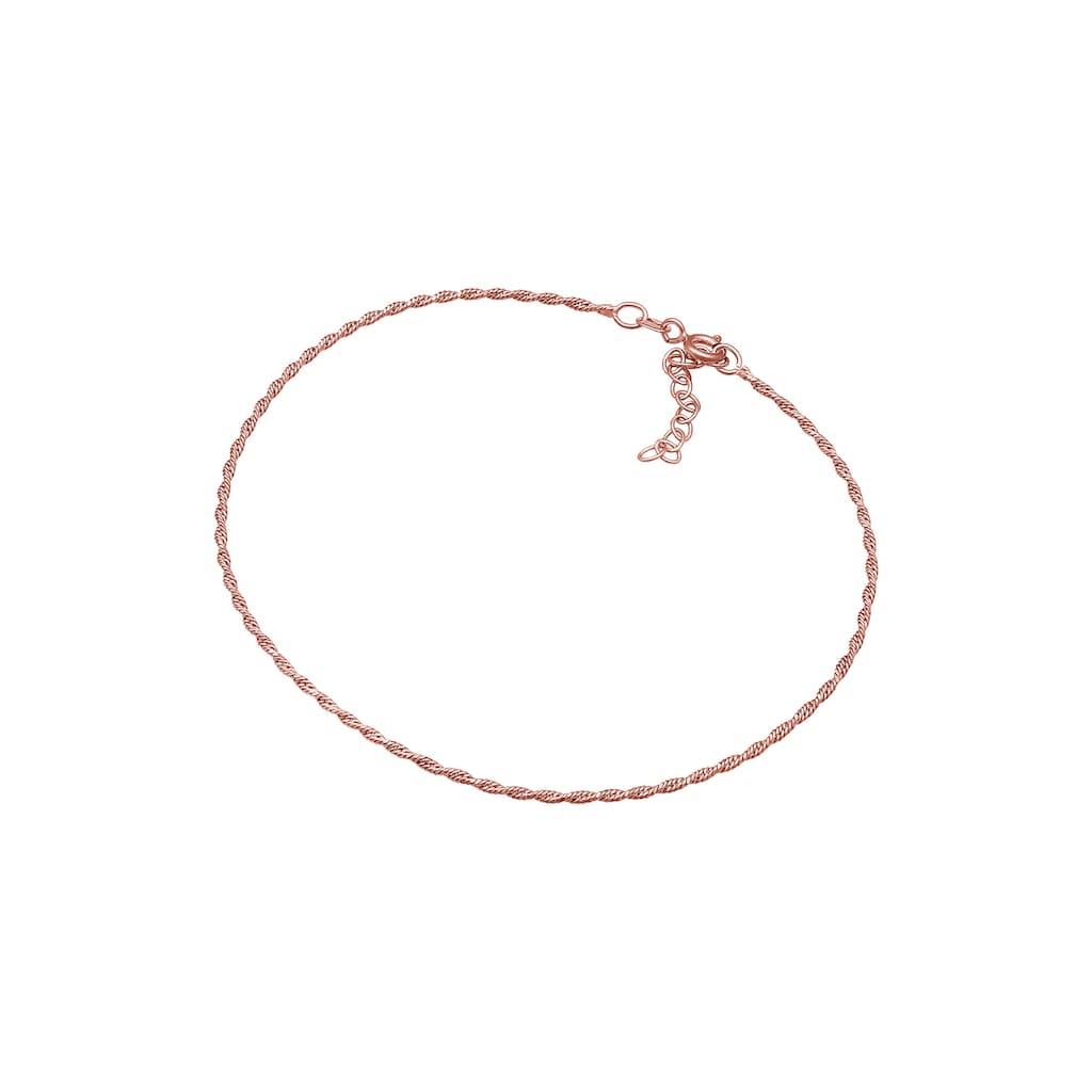 Elli Fußkette »Kordelkette Gedreht Basic Zeitlos 925 Silber«