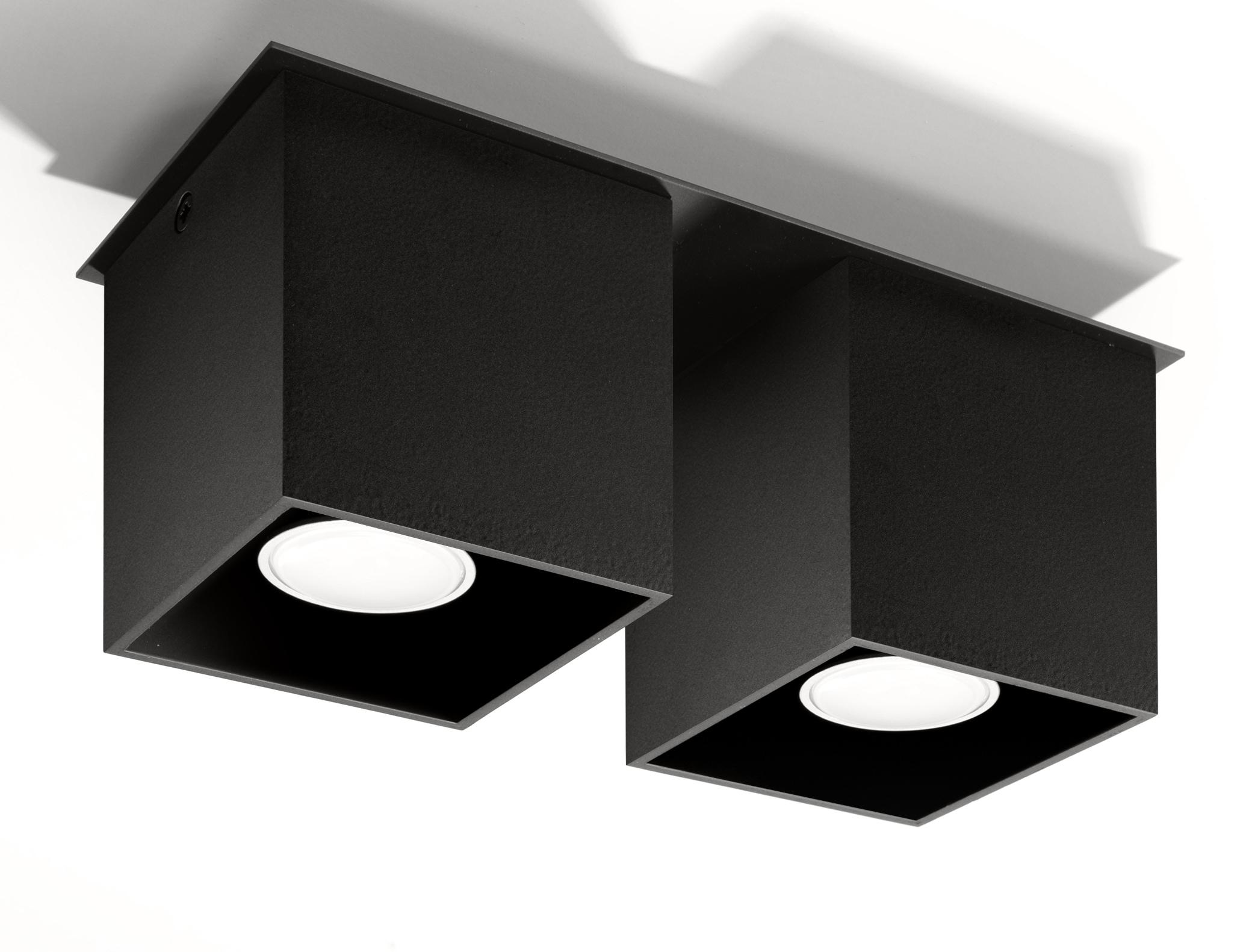 SOLLUX lighting Deckenleuchte QUAD, GU10, 1 St., Deckenlampe