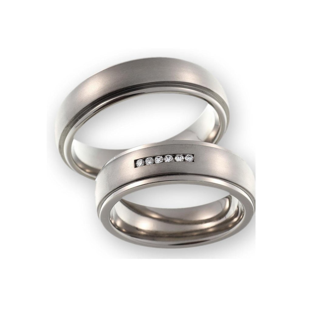 CORE by Schumann Design Trauring »20006176-DR, 20006176-HR, ST050.06«, Made in Germany - wahlweise mit oder ohne Diamanten