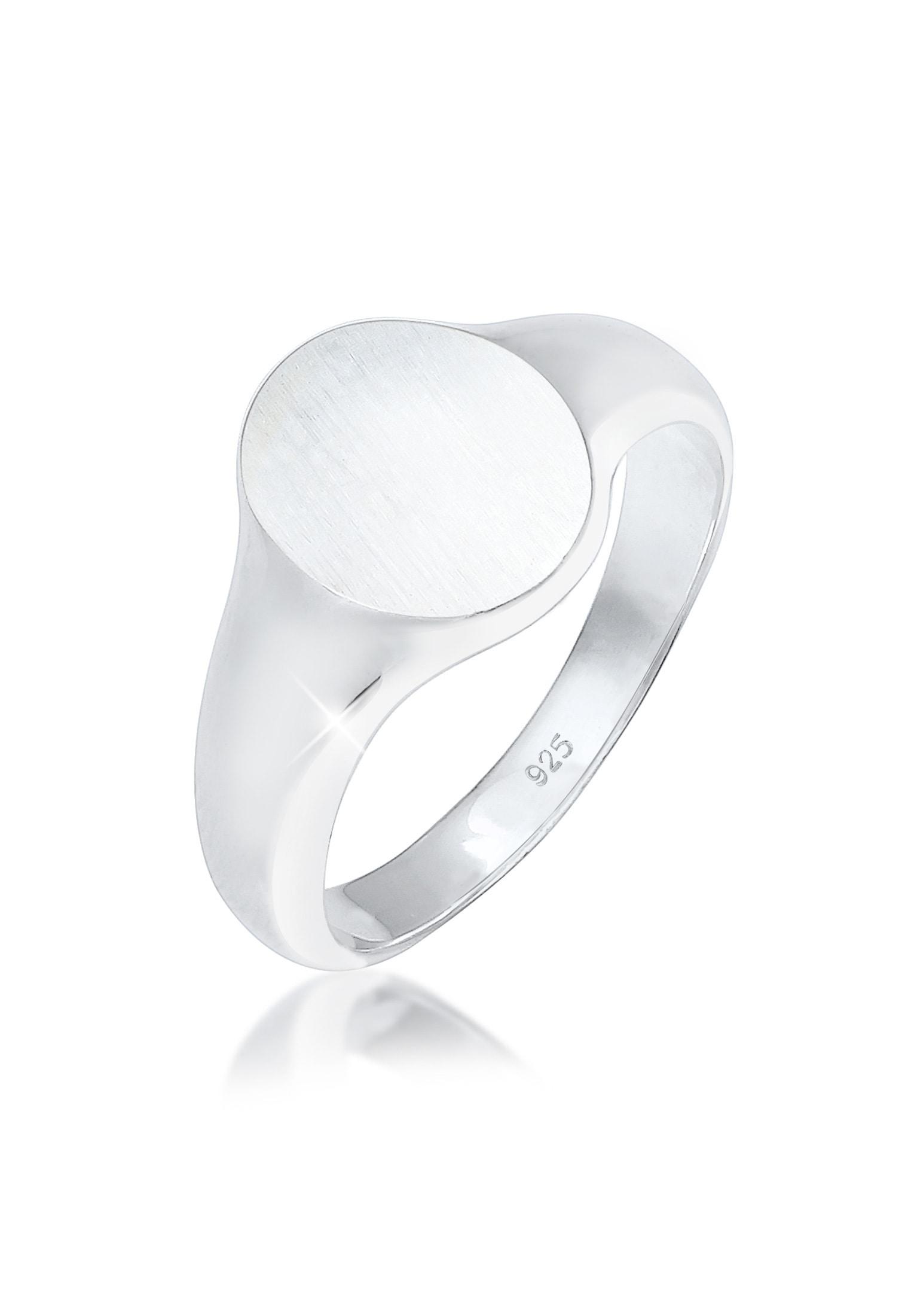 Kuzzoi Silberring Herren Siegelring Matt Basic Cool 925er Silber | Schmuck > Ringe > Silberringe | Kuzzoi
