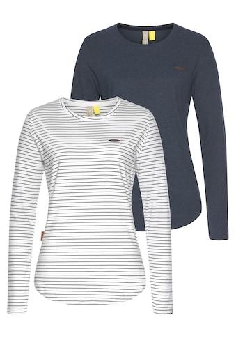 Alife & Kickin T-Shirt »LeaAK«, sportive Langarmshirts mit Bogensaum & Rundhalsausschnitt kaufen