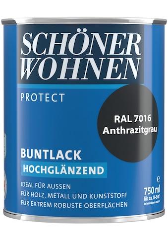 SCHÖNER WOHNEN-Kollektion Lack »Protect Buntlack«, hochglänzend, 750 ml, anthrazitgrau RAL 7016 kaufen