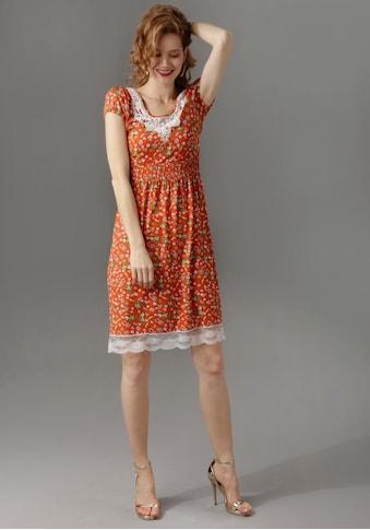 Aniston CASUAL Sommerkleid, mit Spitze am Ausschnitt und Saum kaufen