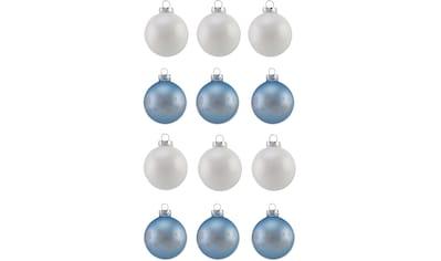 """Thüringer Glasdesign Weihnachtsbaumkugel """"Eisblau"""" kaufen"""