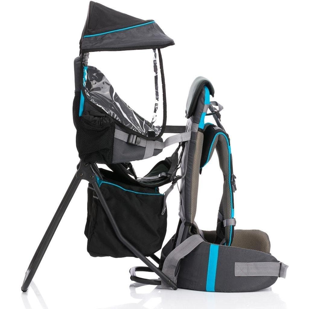 Fillikid Rückentrage »Explorer grau/blau«, bis 20 kg