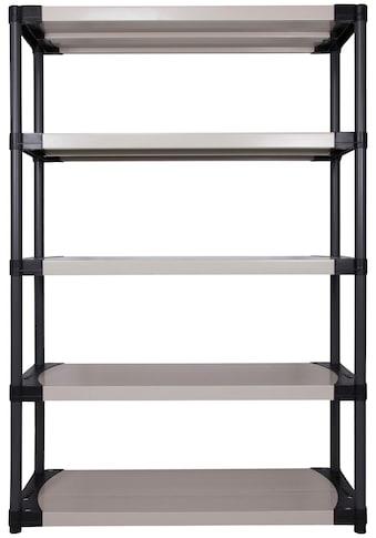 ONDIS24 Steckregal »Worker 120 XL«, (1 St.), 5 Fachböden, Kunststoff kaufen