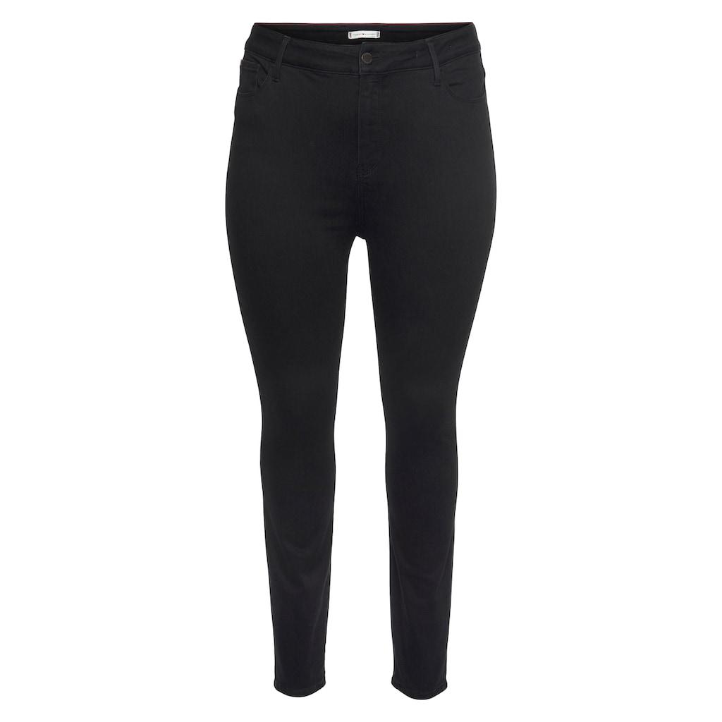 Tommy Hilfiger Curve Skinny-fit-Jeans »CRV HARLEM U SKINNY HW BLACK«, mit Tommy Hilfiger Logo-Flag