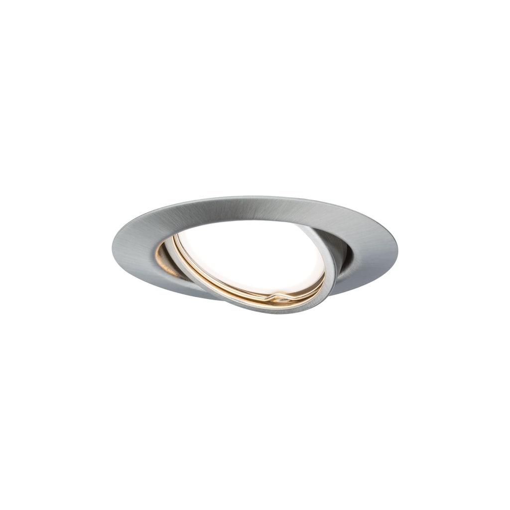Paulmann LED Einbaustrahler »Base rund max. 10x10W GU10 Eisen gebürstet«, GU10, 10 St.