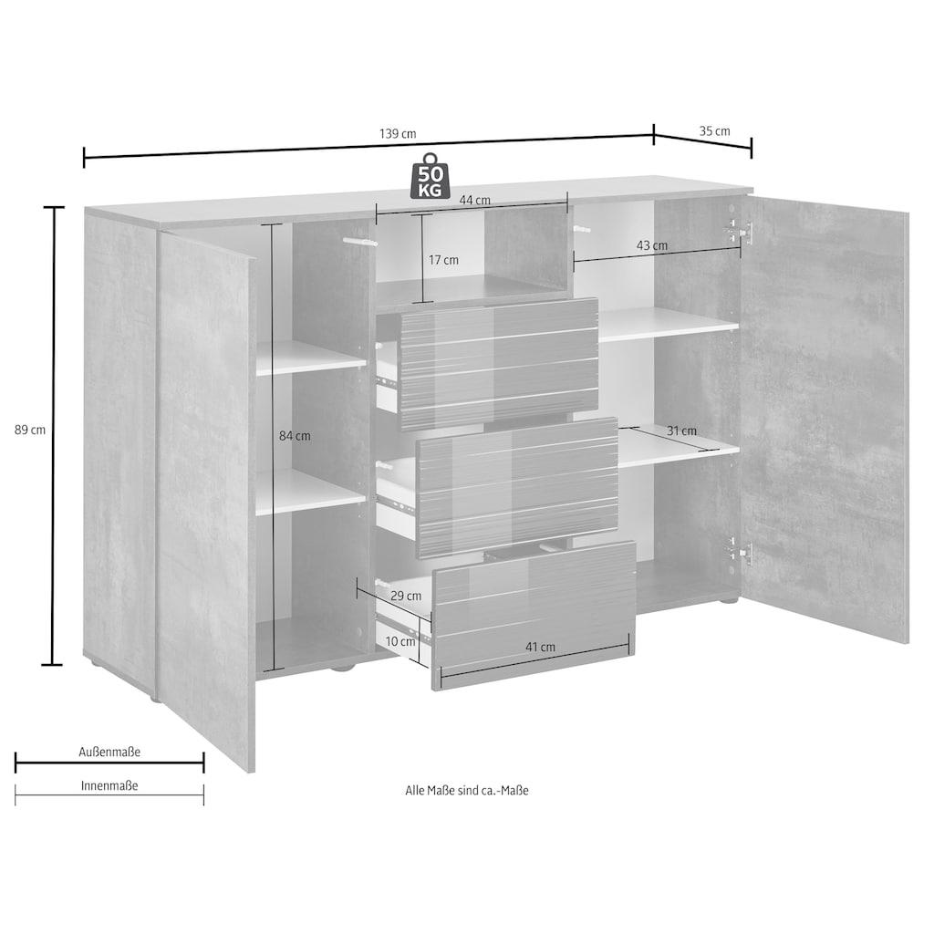 borchardt Möbel Highboard »Savannah«, Breite 139 cm