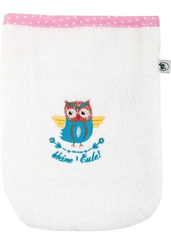 ADELHEID Waschlappen »Kleine Eule Waschlappen«, (3 tlg.), mit Paspel und Stickerei kaufen