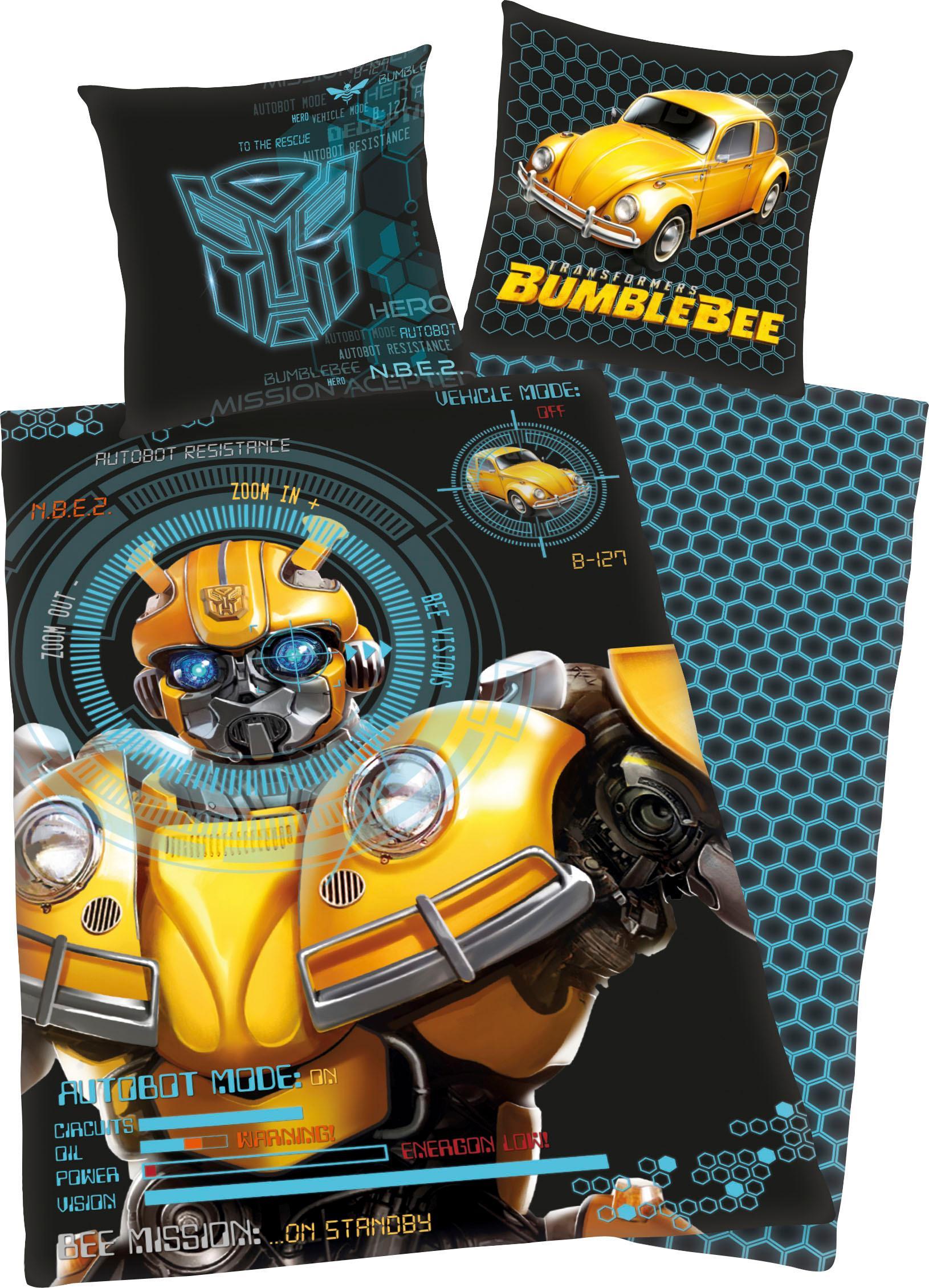 Kinderbettwäsche Bumblebee Transformers | Kinderzimmer > Textilien für Kinder > Kinderbettwäsche | Schwarz | Baumwolle | Transformers