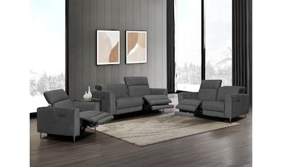 Places of Style Polstergarnitur »Indiana« (Set, Set bestehend aus einem Sessel, einem 2 - Sitzer und einem 3 - Sitzer) kaufen