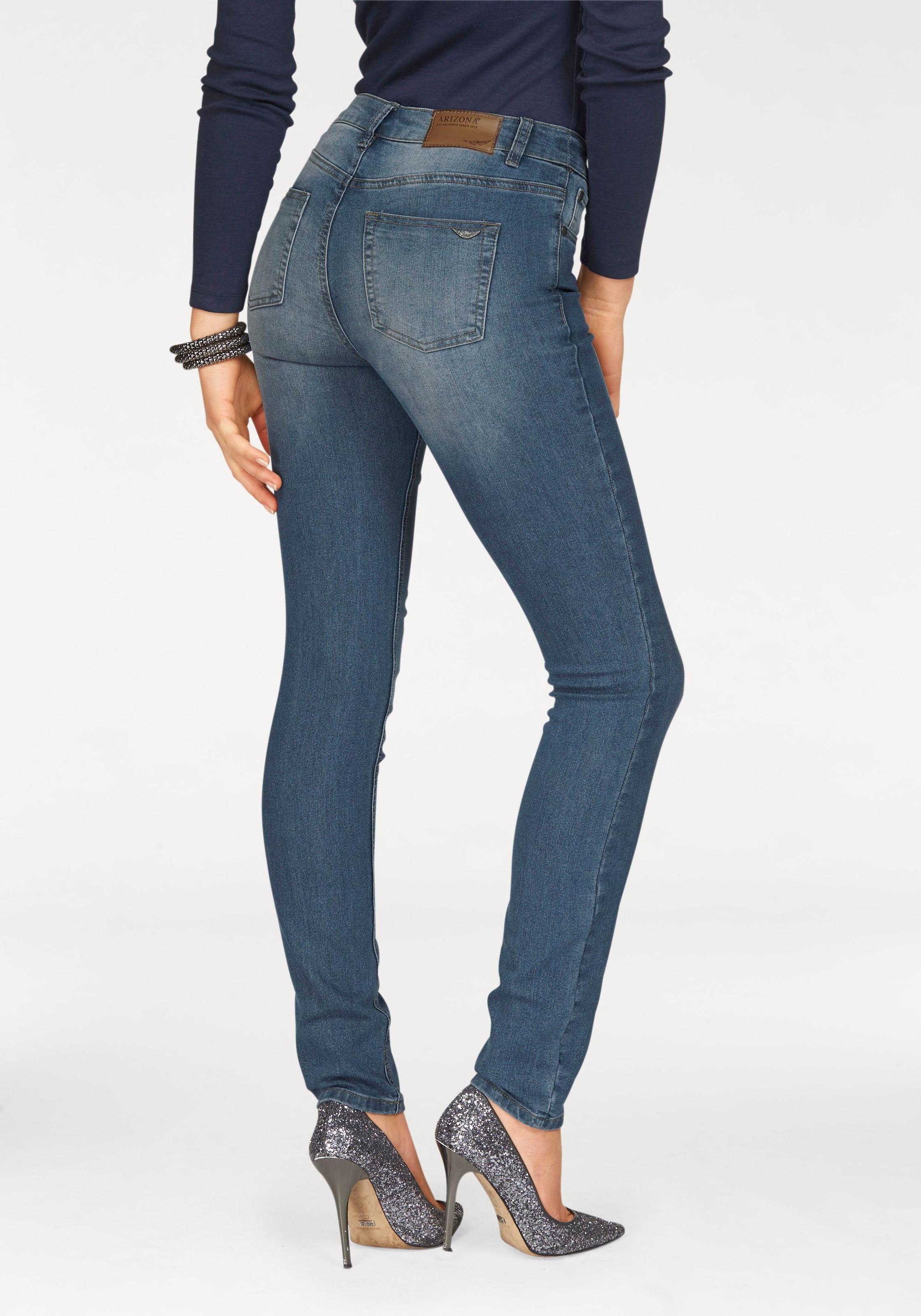 Details zu Arizona Skinny fit Jeans Shaping Jeans Damen High Waist Jeans