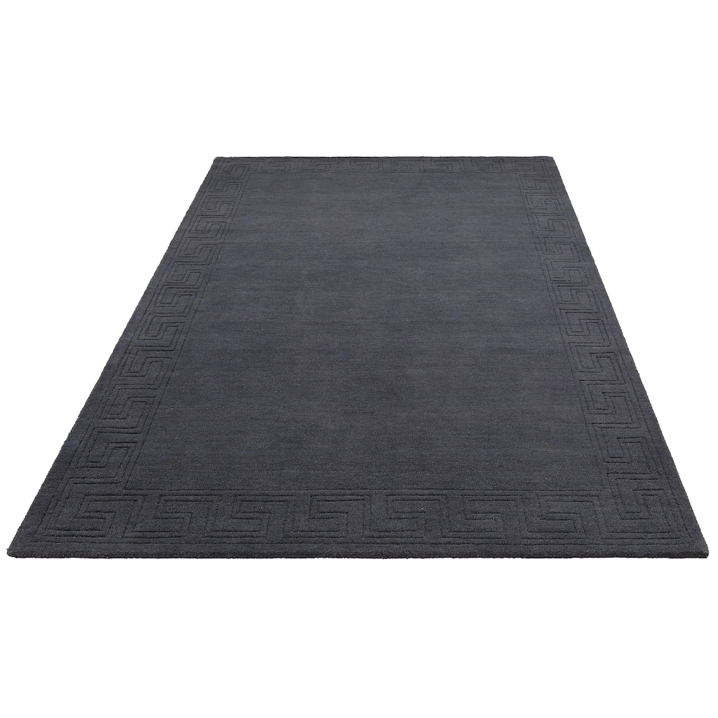 Theko Exklusiv Wollteppich »Ragna«, rechteckig, 14 mm Höhe, Handgearbeiteter Konturenscnitt