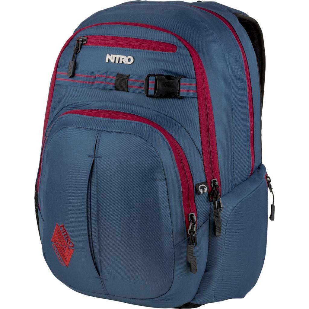 NITRO Schulrucksack »Chase, Blue Steel«