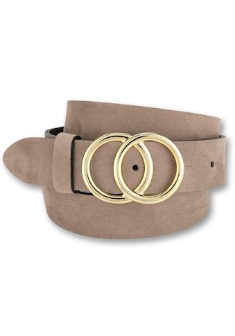 BERND GÖTZ Koppelgürtel, mit goldfarbener Schließe in Ringoptik, Velousledergürtel kaufen