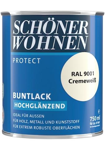 SCHÖNER WOHNEN-Kollektion Lack »Protect Buntlack«, hochglänzend, 750 ml, cremeweiß RAL 9001 kaufen