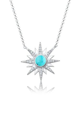 Elli Collierkettchen »Sonne Edelstein Swarovski® Kristalle 925 Silber« kaufen