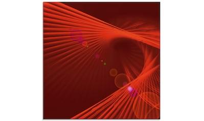 Artland Glasbild »rote Schwingung«, Gegenstandslos, (1 St.) kaufen