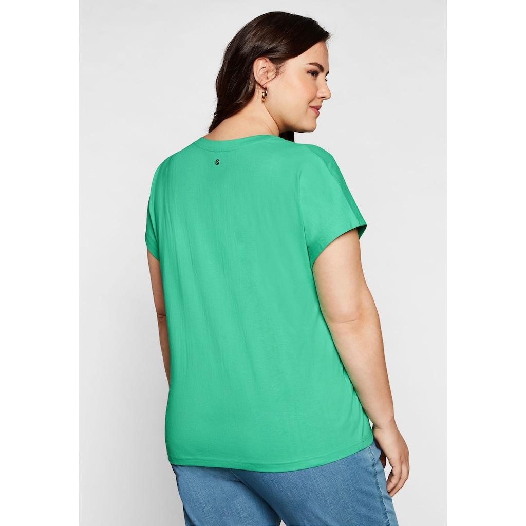 Sheego T-Shirt, mit aufwendiger Stickerei
