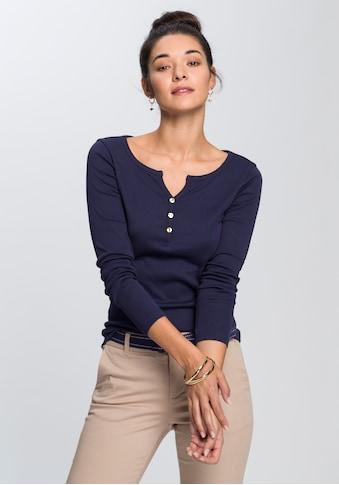AJC Langarmshirt, mit Knopfleiste kaufen