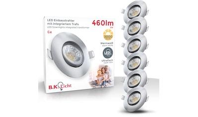 B.K.Licht LED Einbauleuchte, LED-Board, 6 St., Warmweiß, 6er Set schwenkbare... kaufen