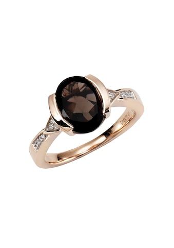 Diamonds by Ellen K. Ring »375/ -  Gold Rauchquarz mit Diamant 0,04ct.« kaufen
