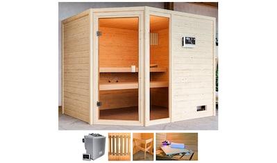 KARIBU Sauna »Lissy«, BxTxH: 231x196x187 cm, 9 kW Bio - Ofen mit ext. Strg. kaufen