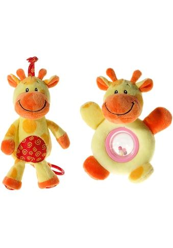 """Heunec® Spieluhr """"Mes Amis -  Ballrassel + Musikspieluhr  -  Giraffe"""" (Set, 2 - tlg.) kaufen"""