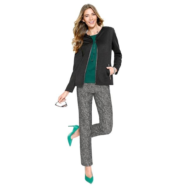Classic Basics Blazer aus angenehm strukturiertem Jersey