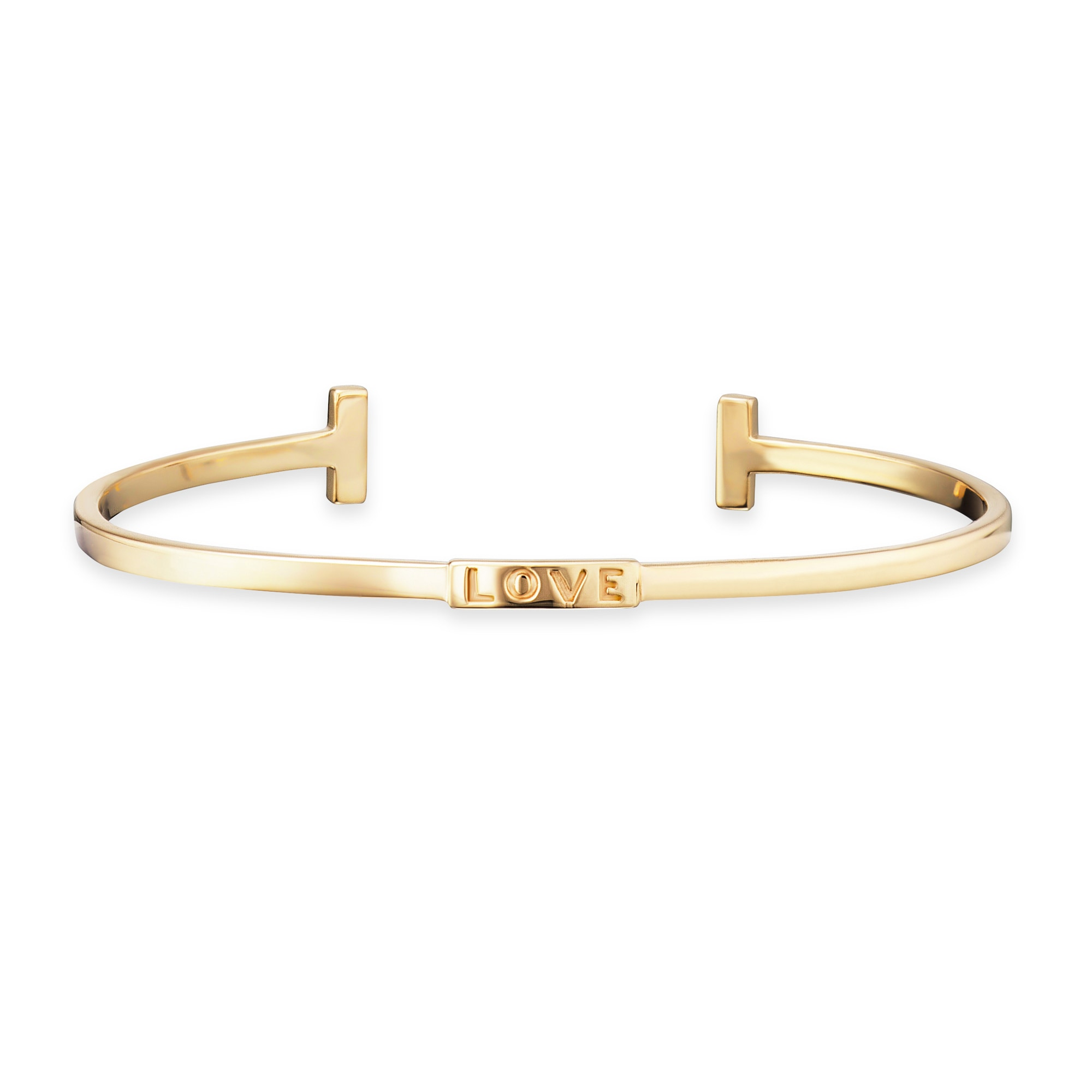 Cai Armreif 925/- Sterling Silber vergoldet LOVE   Schmuck > Armbänder > Armreifen   Gelb   Cai