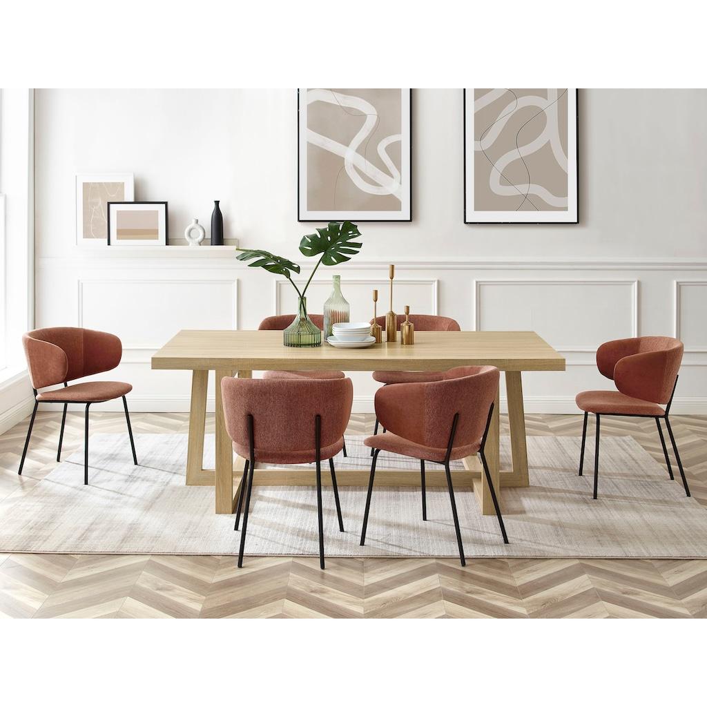 andas Esstisch »Sloan«, mit einem besonderen Beingestell, mit einer schönen Holzoptik Tischplatte, Design by Morten Georgsen