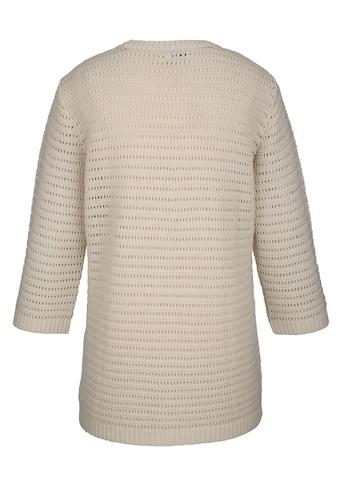 MIAMODA Pullover aus leicht transparentem Ajourstrick kaufen