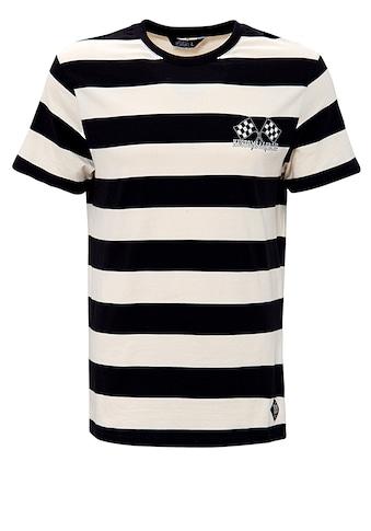 KingKerosin Rundhalsshirt »Kustoms & Garage«, mit dezenter Stickerei an der Brust und... kaufen