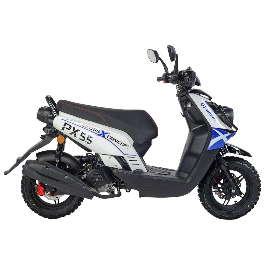 GT UNION Motorroller »PX 55 Cross-Concept«, 50 cm³, 45 km/h, Euro 5, 3 PS, EURO 5