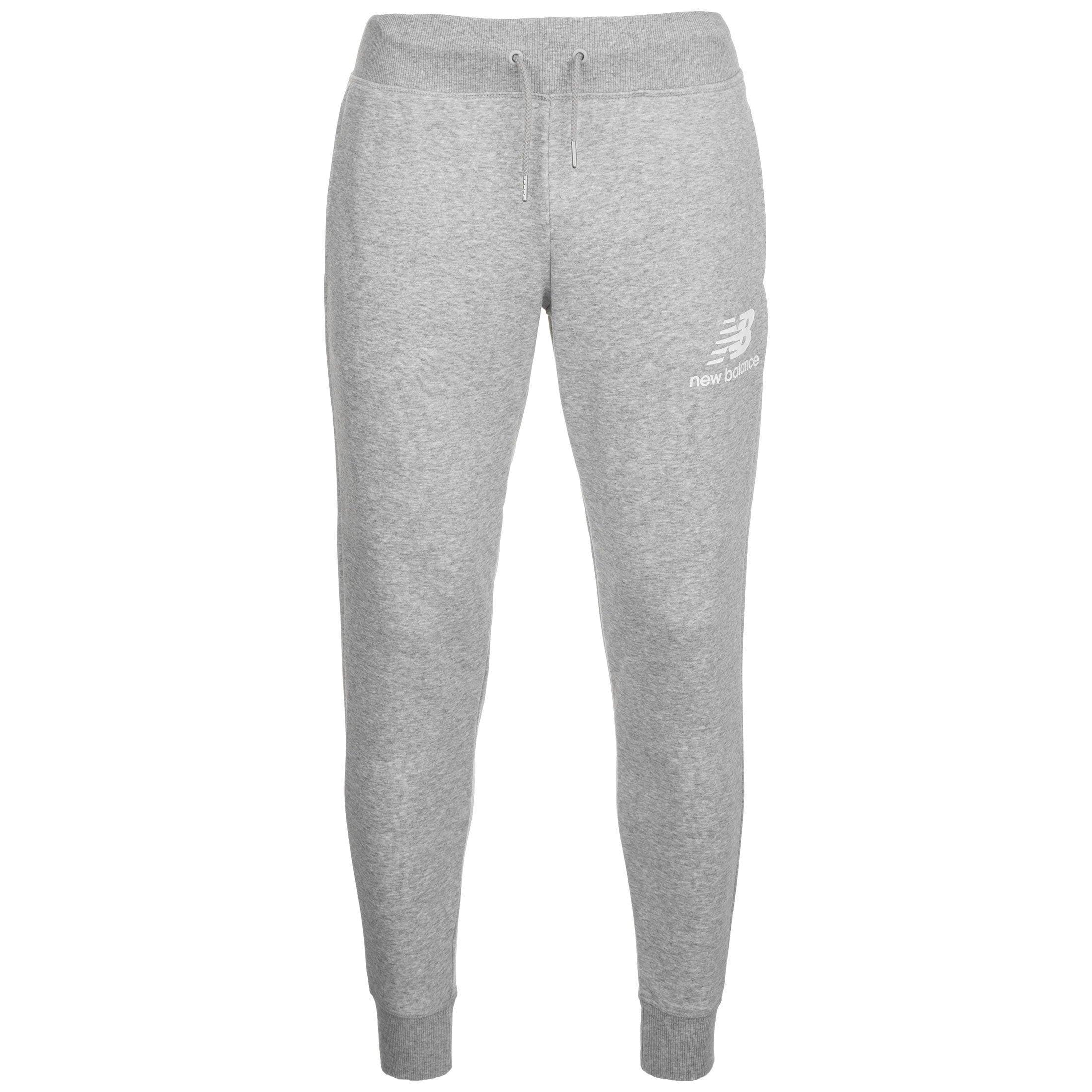 New Balance Jogginghose Essentials Stacked Logo | Sportbekleidung > Sporthosen > Jogginghosen | Grau | New Balance
