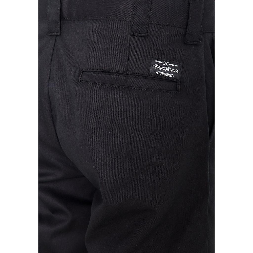 KingKerosin Bügelfaltenhose, im Worker Look mit Kontrastfutter