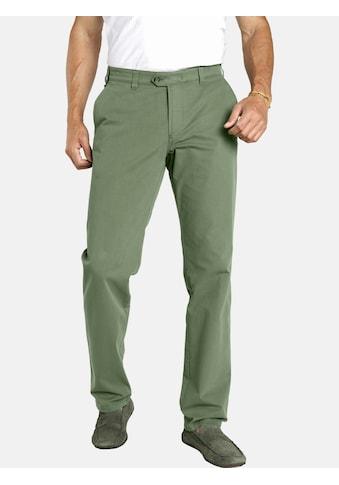 Jan Vanderstorm Stoffhose »JADARA«, Tiefbundhose bequem weit grün kaufen