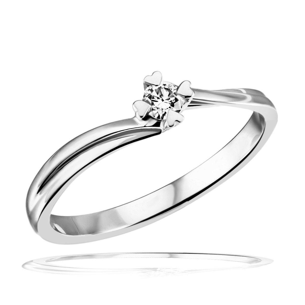 goldmaid Damenring Weissgold 585 Brillant Herz Stotzen Verlobungsring   Schmuck > Ringe > Verlobungsringe   Weiß   Goldmaid