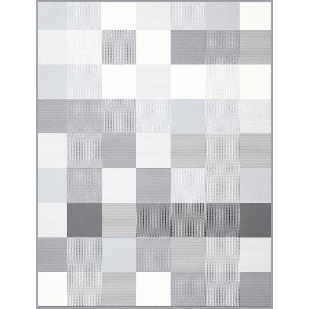 BIEDERLACK Wohndecke »Baumwolldecke Grey-Woven«, mit Karomuster