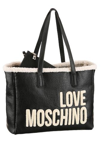 LOVE MOSCHINO Shopper »REVERSIBLE SET«, mit Textilbesatz und abnehmbarer Tasche kaufen