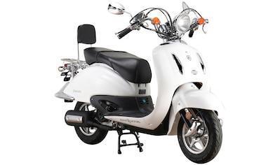 Alpha Motors Mofaroller »Retro Firenze«, 50 cm³, 25 km/h, Euro 5, 2,72 PS, schwarz kaufen