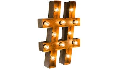 MARQUEE LIGHTS LED Dekolicht »Hashtag Raute«, E14, 1 St., Warmweiß, Wandlampe,... kaufen