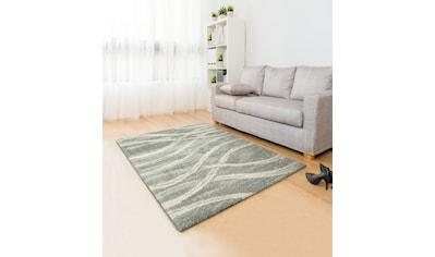 my home Hochflor-Teppich »Sandu«, rechteckig, 40 mm Höhe, weicher Flor, Wohnzimmer kaufen