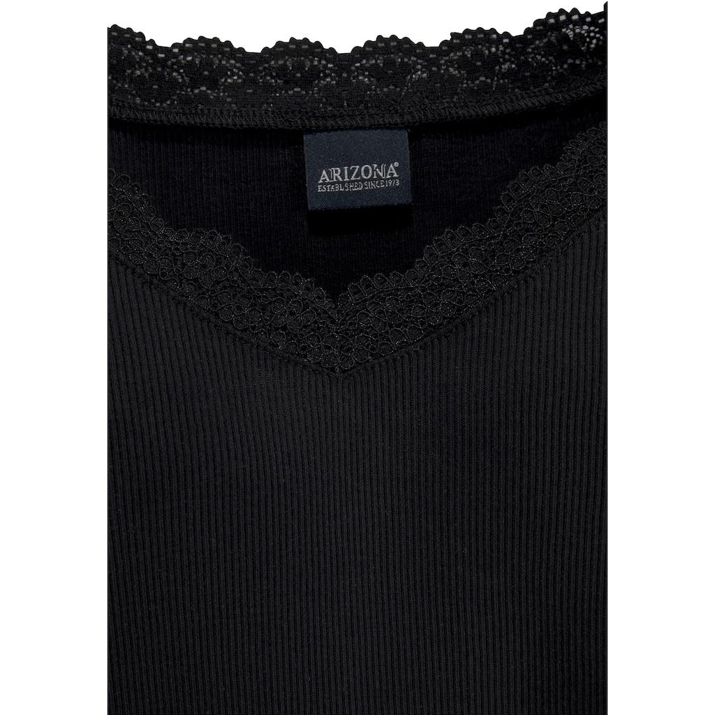 Arizona Langarmshirt, mit Spitzendetails