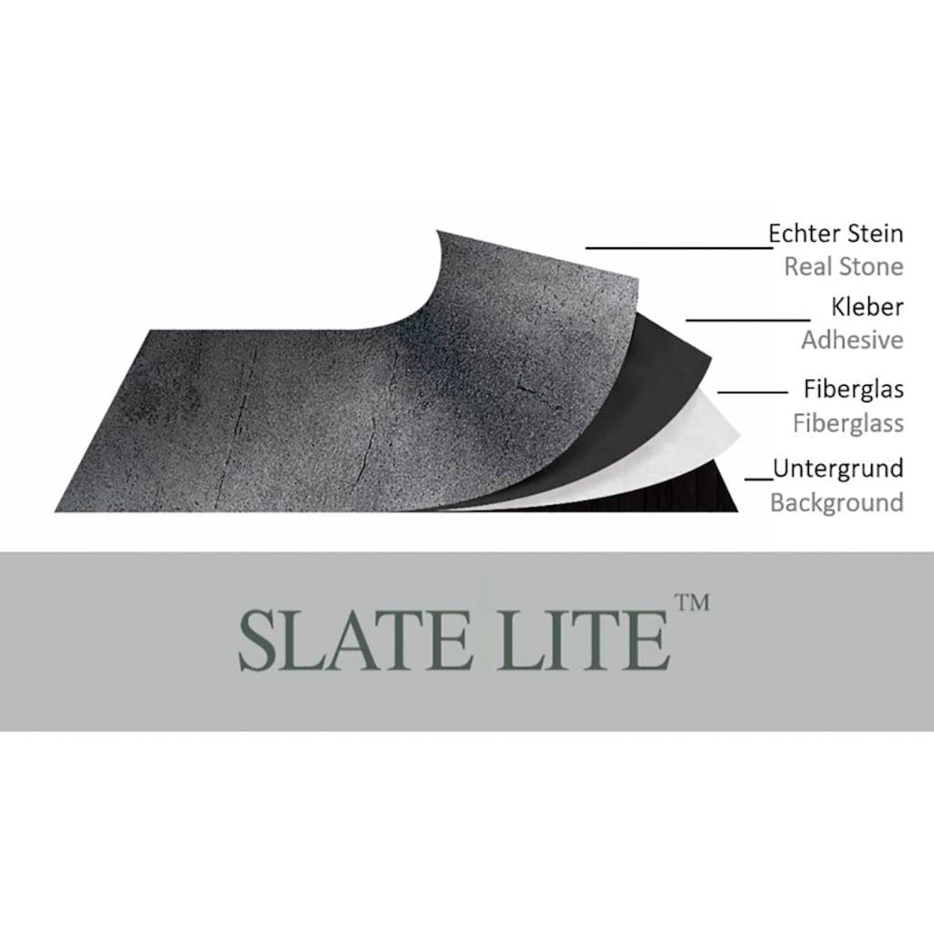Slate Lite Dekorpaneele »Black Pearl«, aus Echtstein